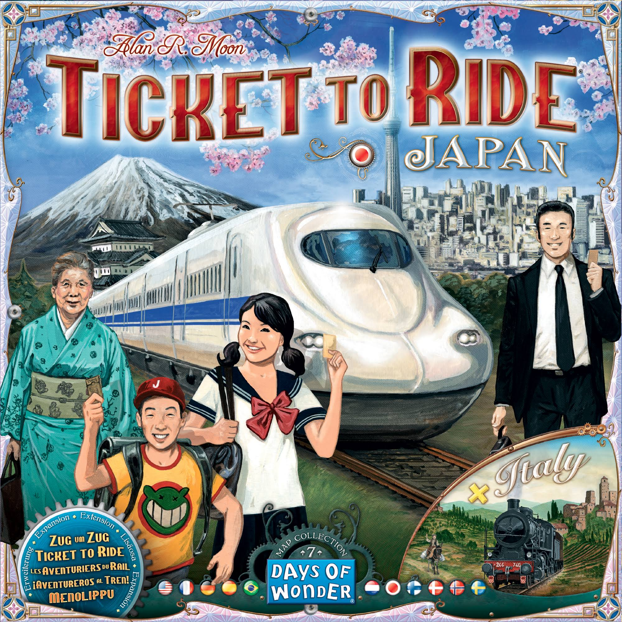 Days of Wonder Expansion Ticket To Ride Japan / Italy Board Game
