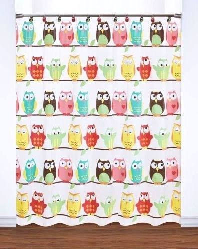 Saturday Knight Owl Peva Shower Curtain