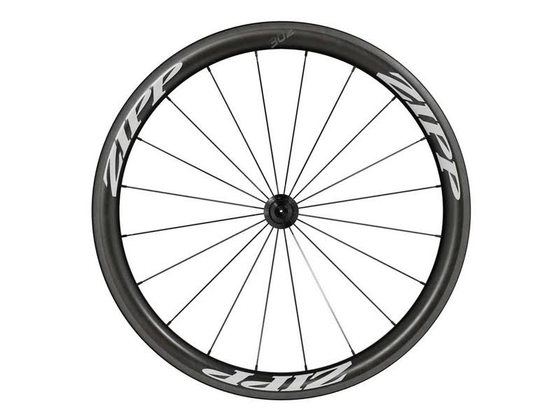Zipp 302 Bicycle Tires Carbon Clincher Front Wheel - White, 700c, 24 Spokes