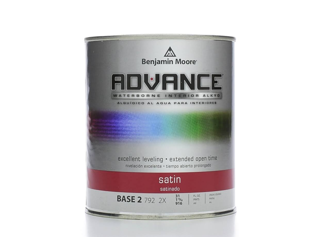 Benjamin Moore Advance Paint, Satin, Base 2 - 31 fl oz can