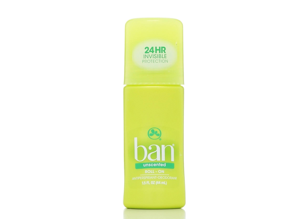 Ban Roll-On Antiperspirant and Deodorant - Unscented, 1.5oz