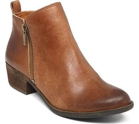 Lucky Brand Women's Leather Ankle Boots - Brown, 7.5 US