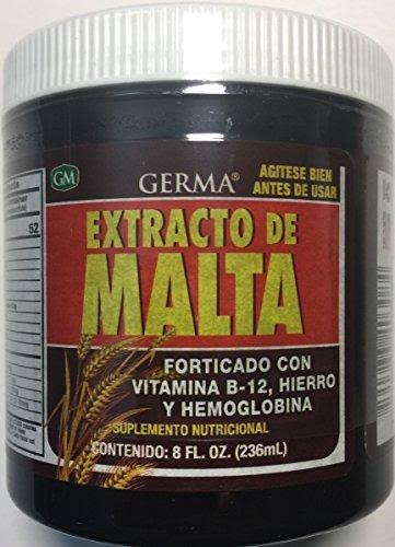 Germa Malt Extract with B-12 Enhanced Vitamins Supplement - 8oz