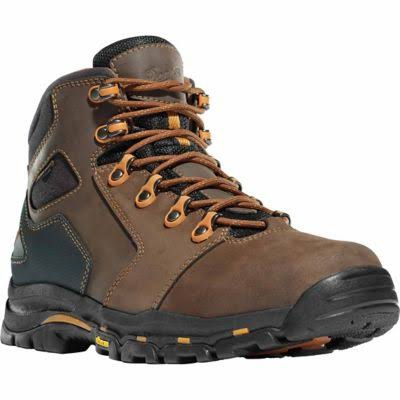 Danner Mens Vicious Work Boots - Brown and Orange, 9 US