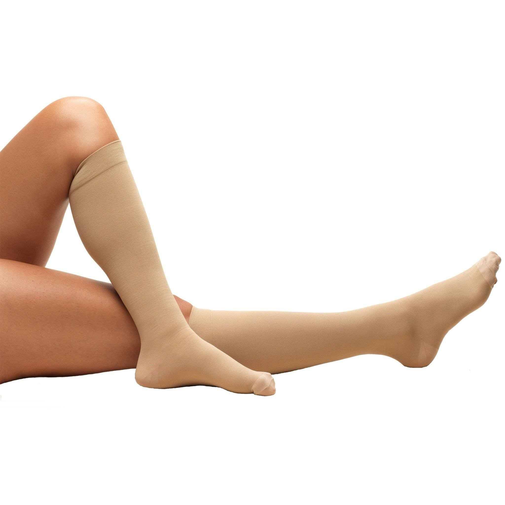 Truform 8808 Knee High Closed Toe Anti Embolism Stockings - Beige, XXLarge, 18mmHg