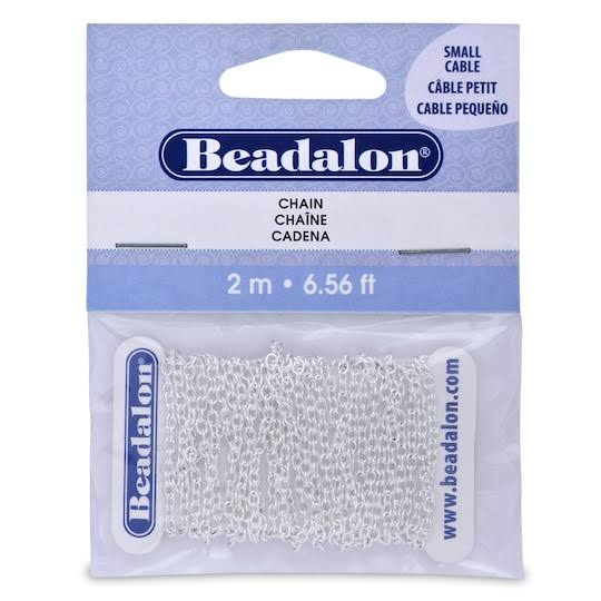 Beadalon Chain - 2.3mm, Small, Silver Plated, 2m