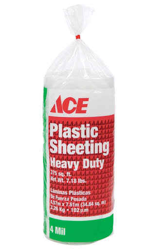 Ace 15' x 25' x 4 Mil Polyethylene Plastic Sheeting Clear