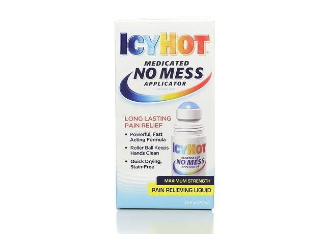 Icy Hot No Mess Applicator Pain Relieving Liquid - Maximum Strength, 2.5oz