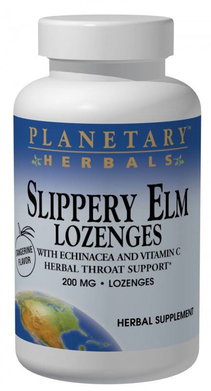 Planetary Herbals Slippery Elm Lozenges - 150mg, 100 Lozenges