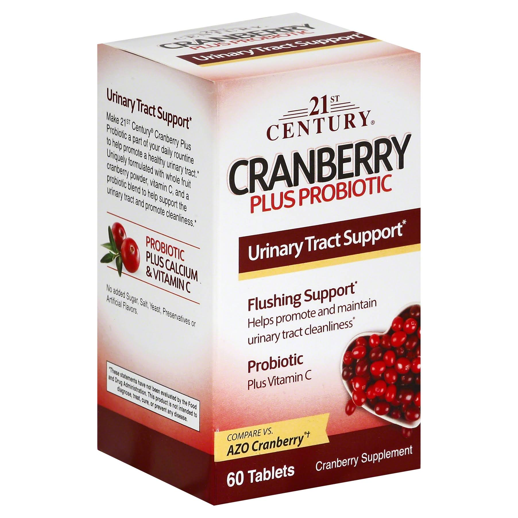 21st Century Cranberry Plus Probiotic Supplement - 60 Tablets