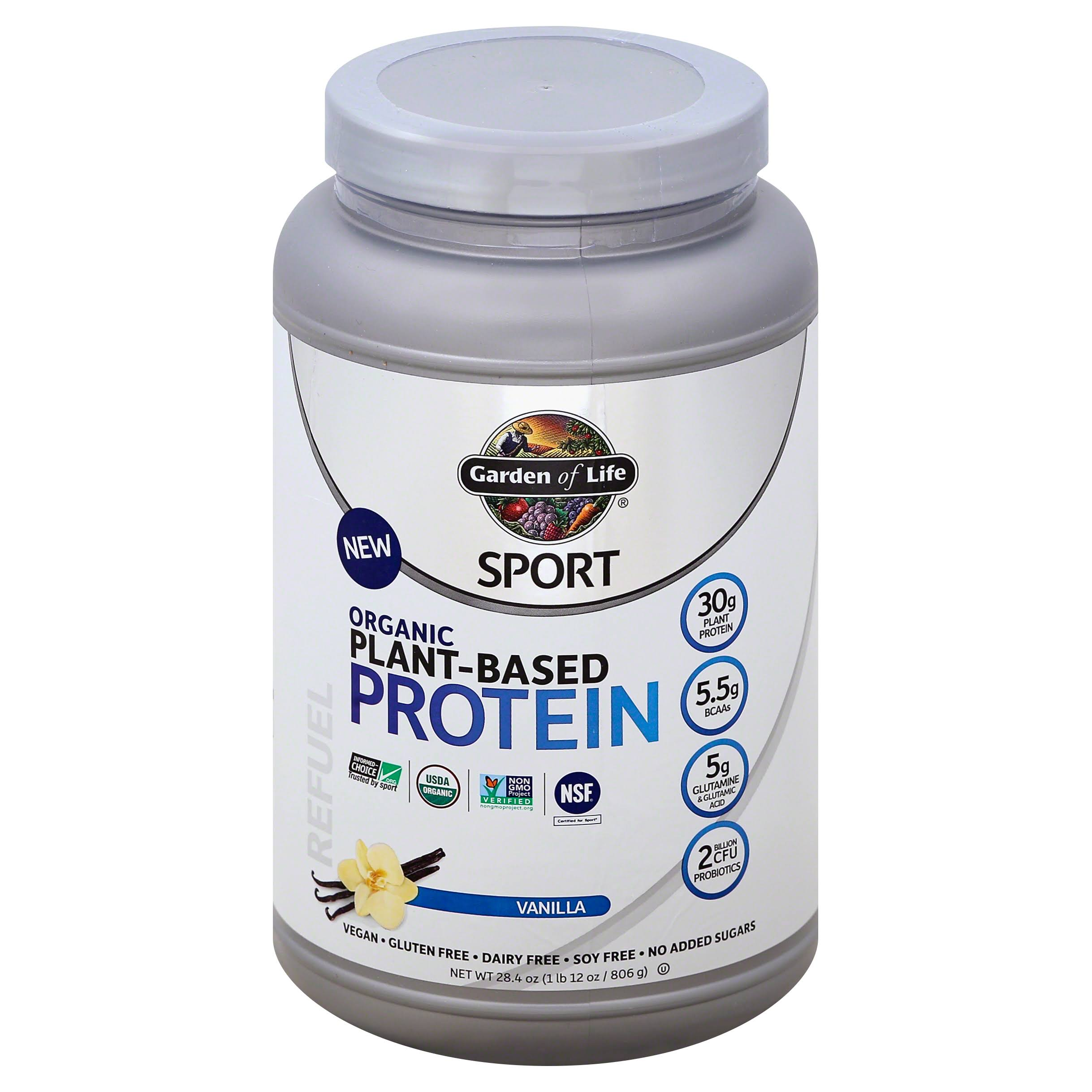 Garden Of Life Sport Organic Protein Supplement - Vanilla, 806g