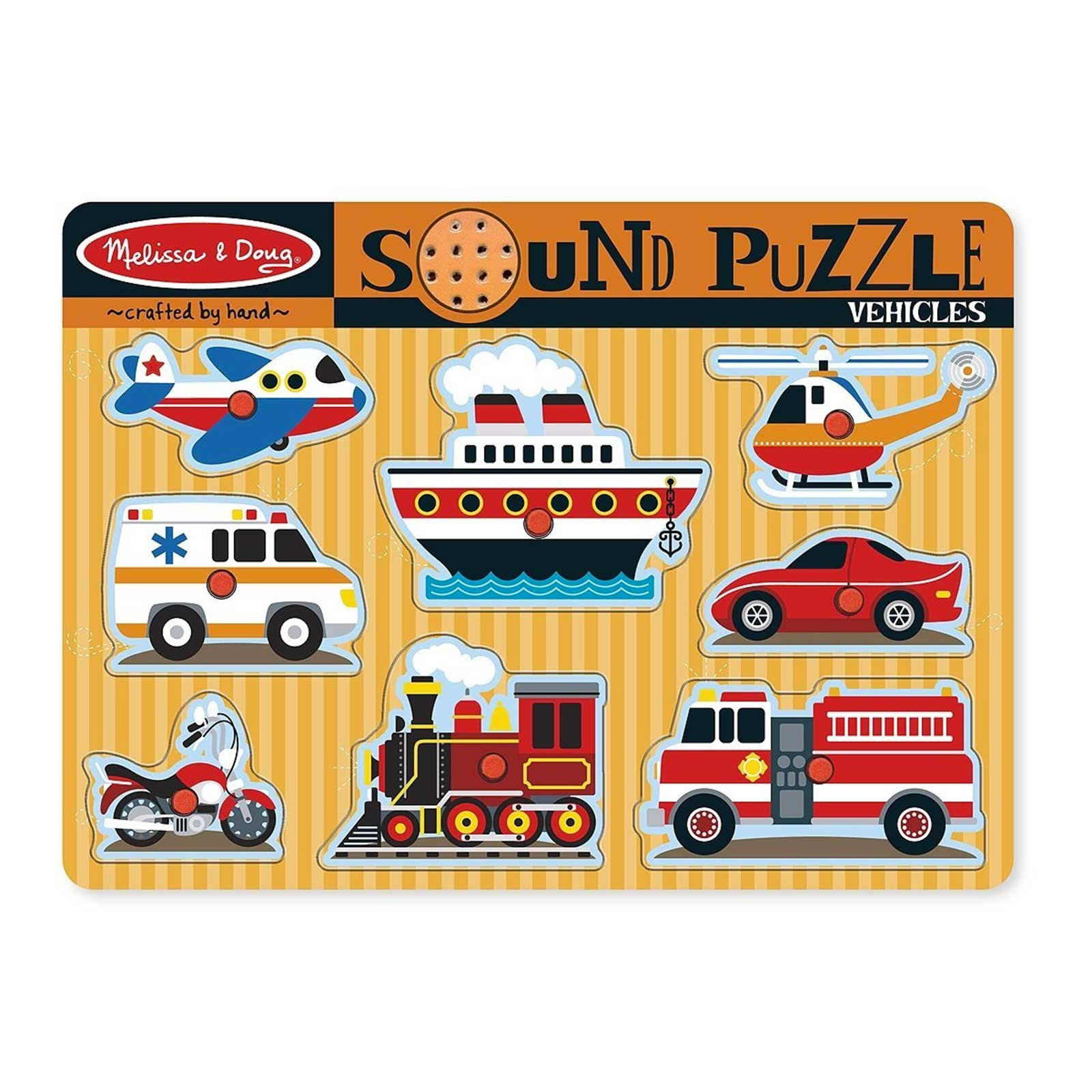 Melissa & Doug Sound Puzzle (Vehicles)
