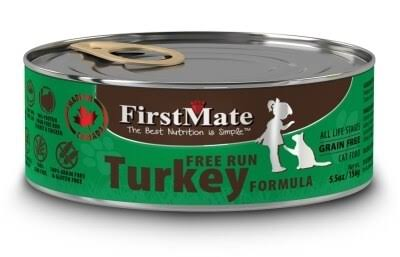 FirstMate Turkey Formula Limited Ingredient Cat Food, 5.5-oz, 24 ct