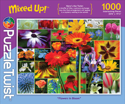 PuzzleTwist Mixed Up 1000 Piece Puzzle Flowers in Bloom