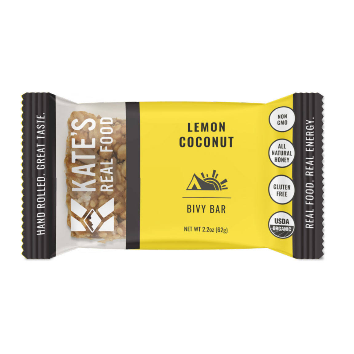 Kate's Real Food Bivy Bar Lemon Coconut