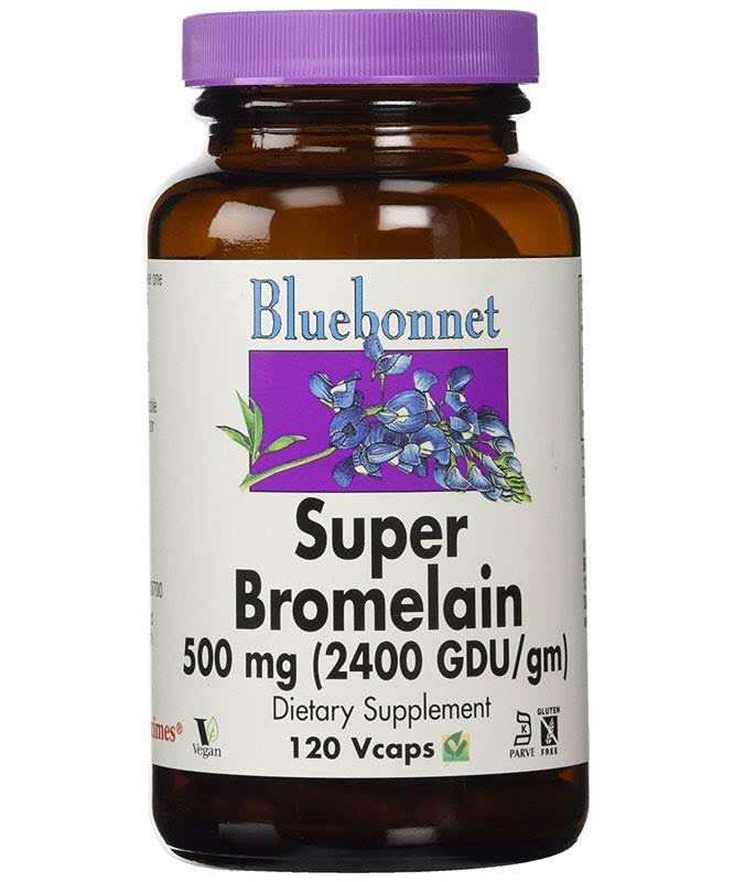 BlueBonnet Super Bromelain Vegetarian Supplement - 500mg, 120 Count