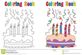 Cake Decorating Books Free by Coloring Book Birthday Cake Stock Vector Image 53465383