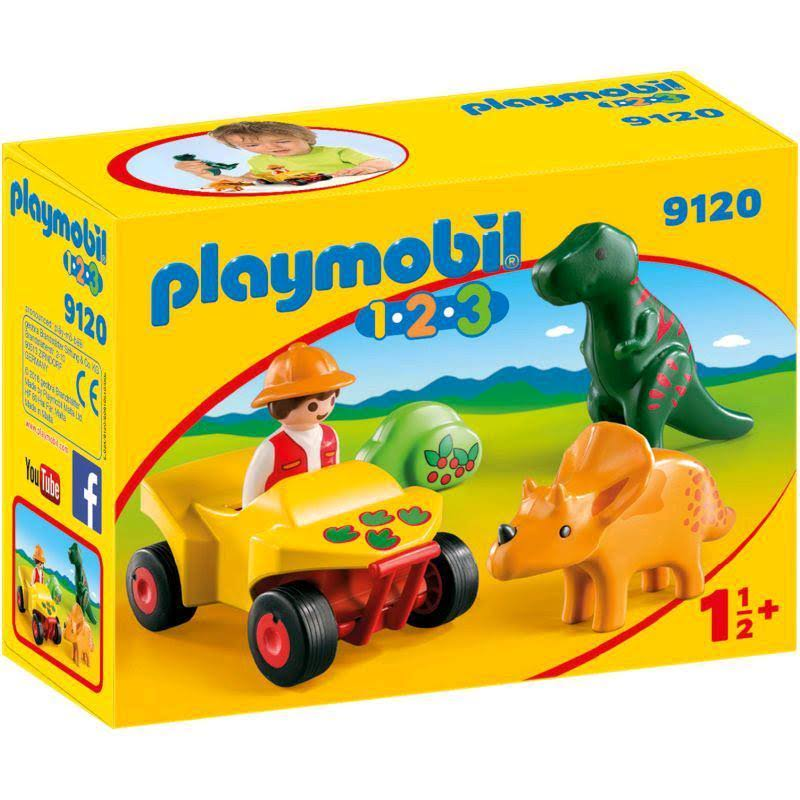 Playmobil 1 2 3 Explorer with Dinos Playset