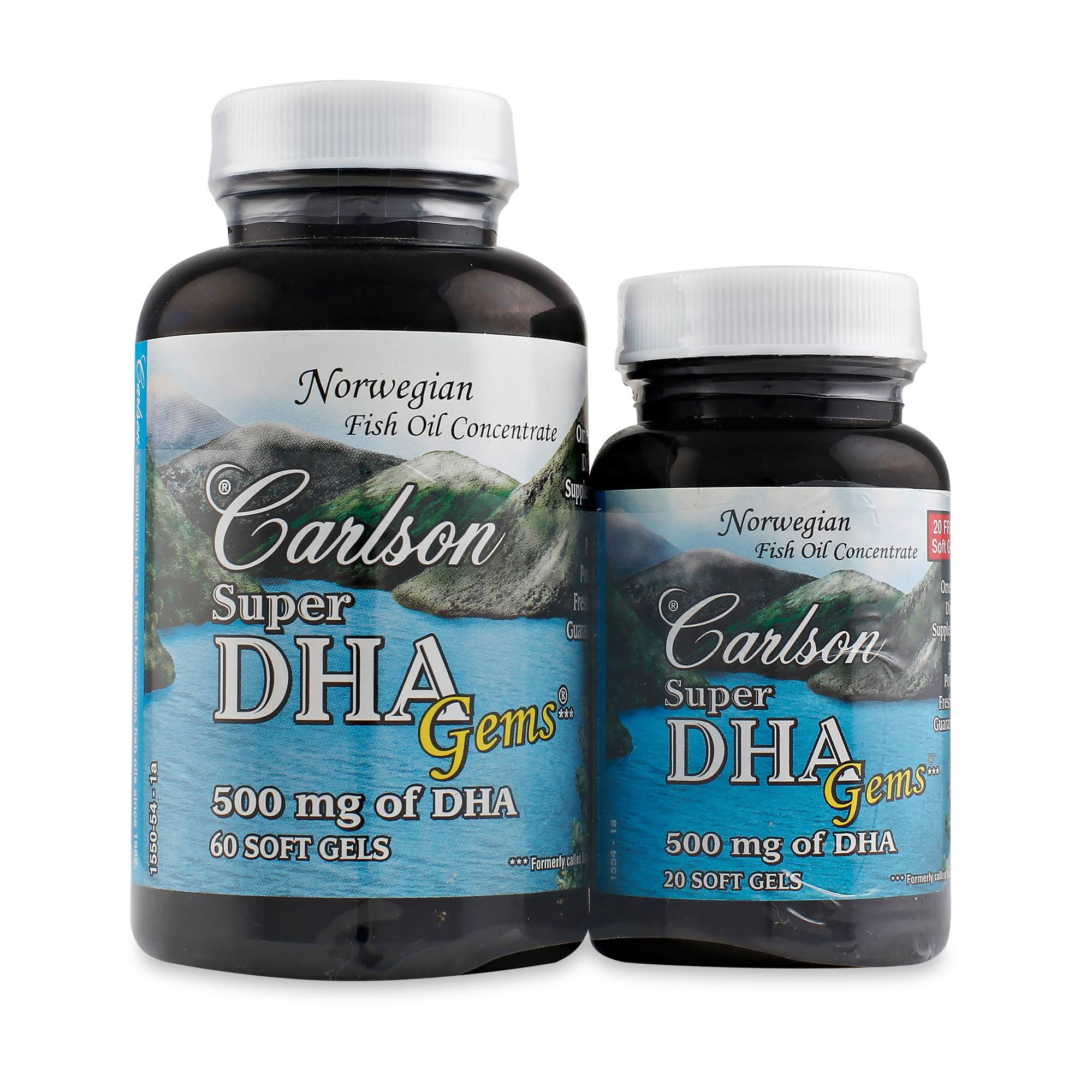 Carlson Labs Super DHA Mineral Supplement Softgels