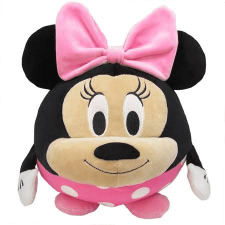 Cuddle Pal Disney Minnie Mouse Round Stuffed Animal Plush Toy, 10 Inches