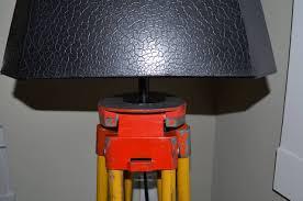 Surveyor Floor Lamp Tripod by Floor Lamp From Adjustable Surveyor U0027s Tripod Of Wood And Steel At
