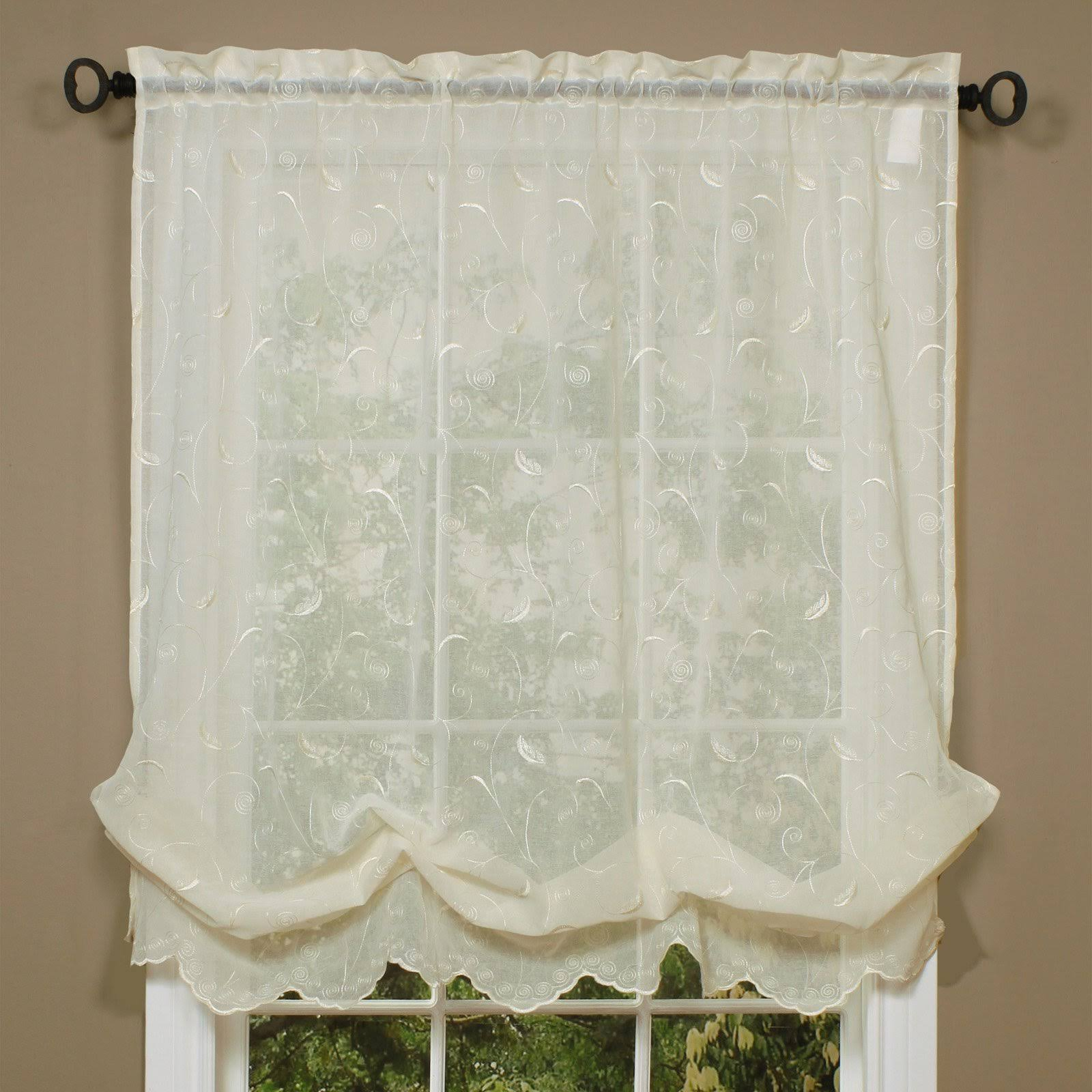 Habitat Hathaway Balloon Curtain Cream 54 x 63