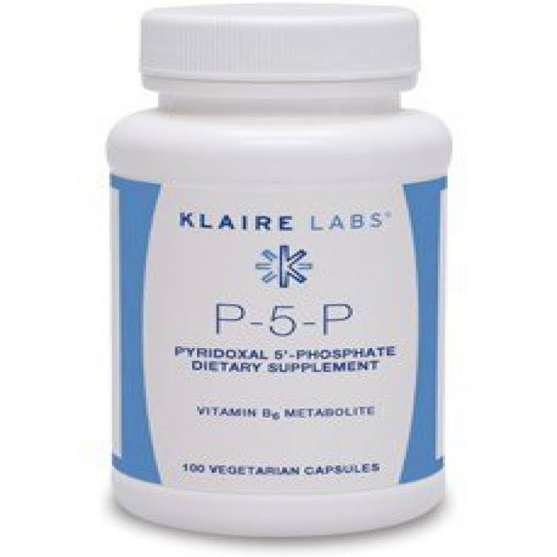 Klaire Labs P5P Dietary Supplement - 50mg, 100 Capsules