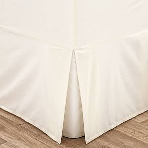 Fitted Valanced Sheets in white or cream