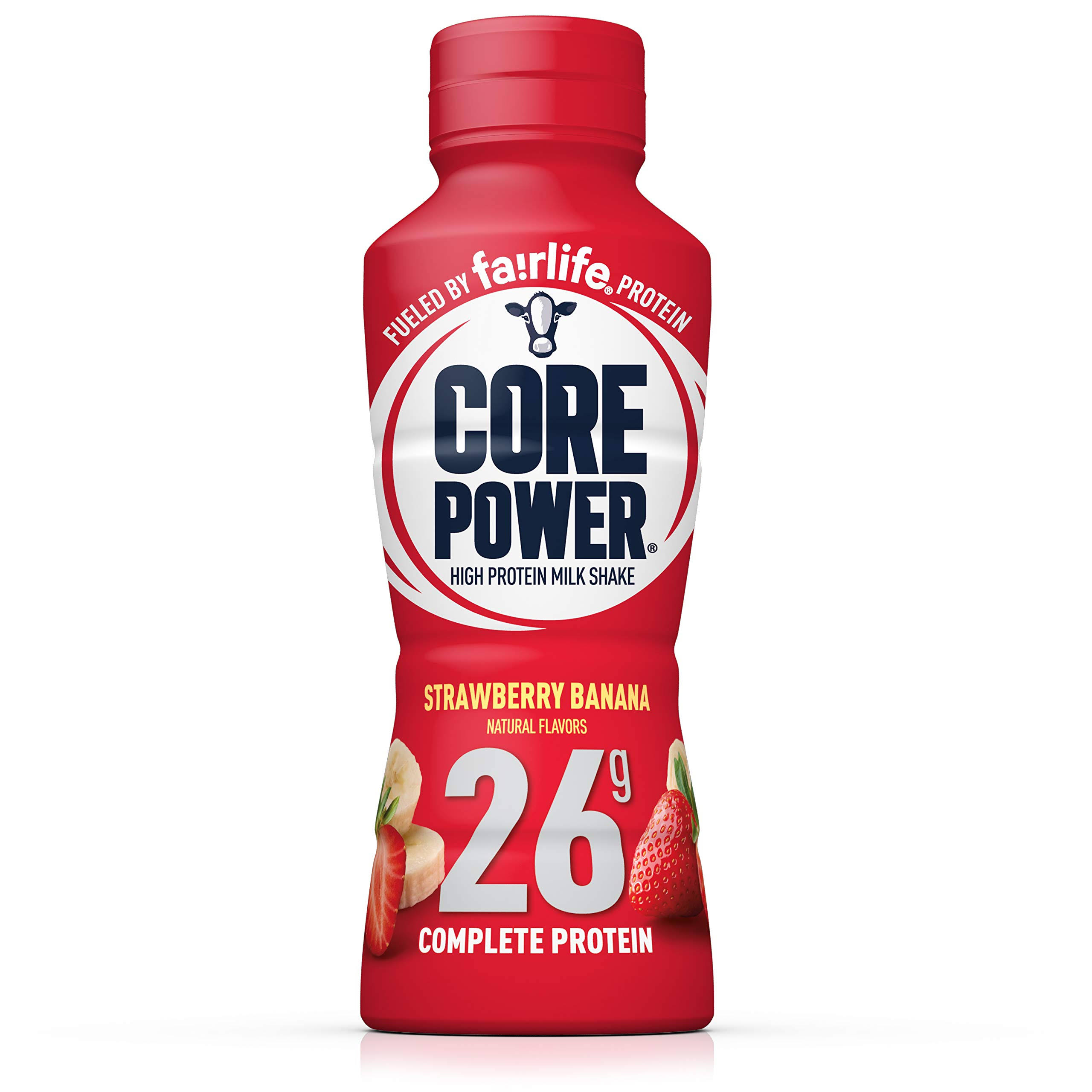 Core Power Complete Protein Milk Shake Strawberry Banana, 14.0 fl oz
