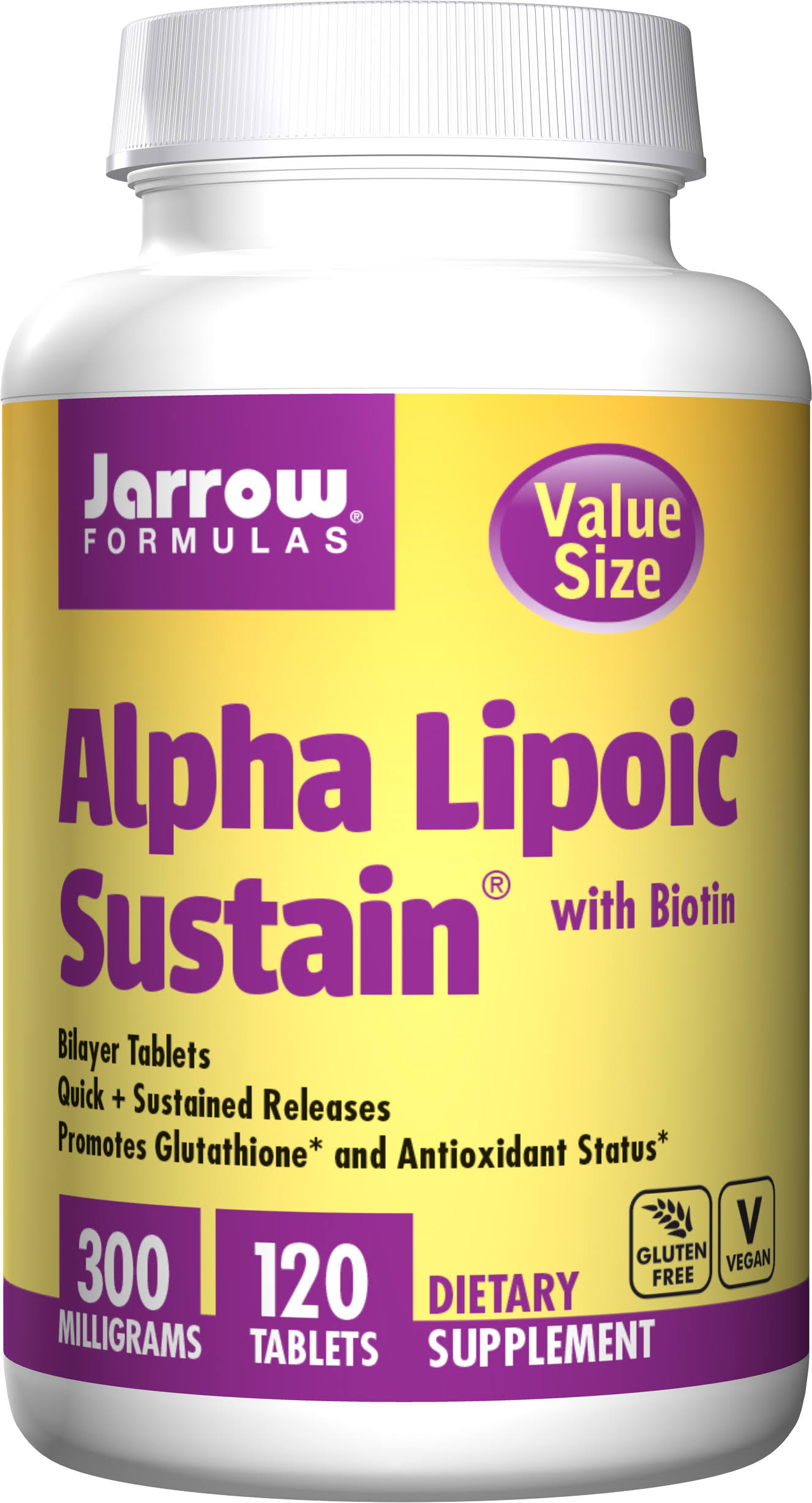 Jarrow Formulas Alpha Lipoic Sustain Supplement - 120 Count