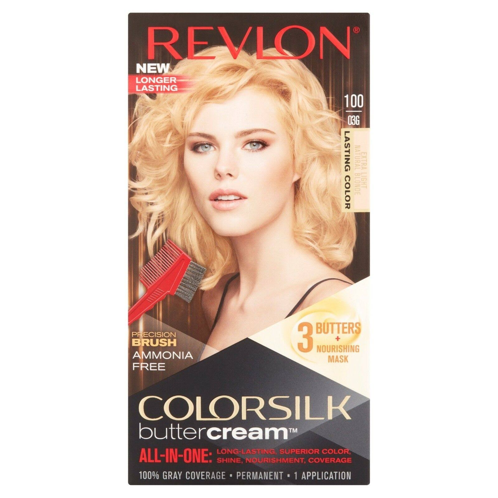 Revlon Colorsilk Buttercream Hair Color Kit - 100 Extra Light Natural Blonde