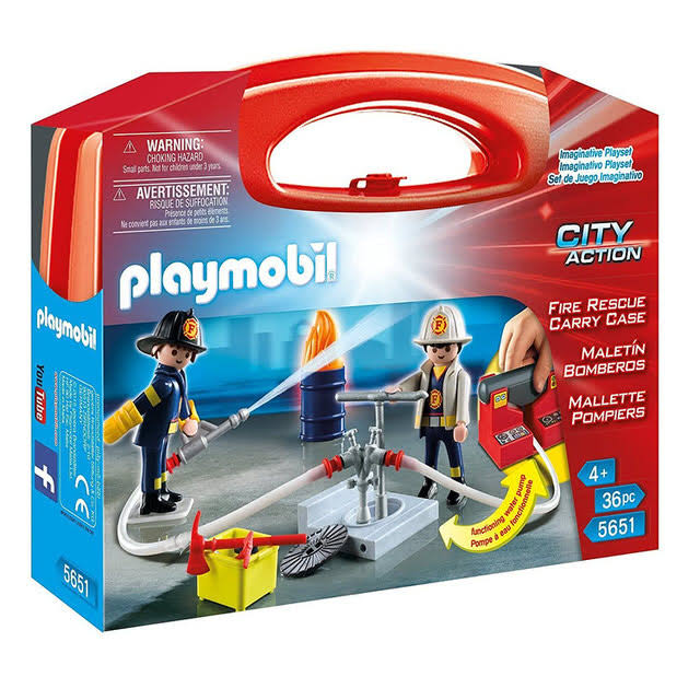 Playmobil 5651 City Action Fire Rescure Carry Case