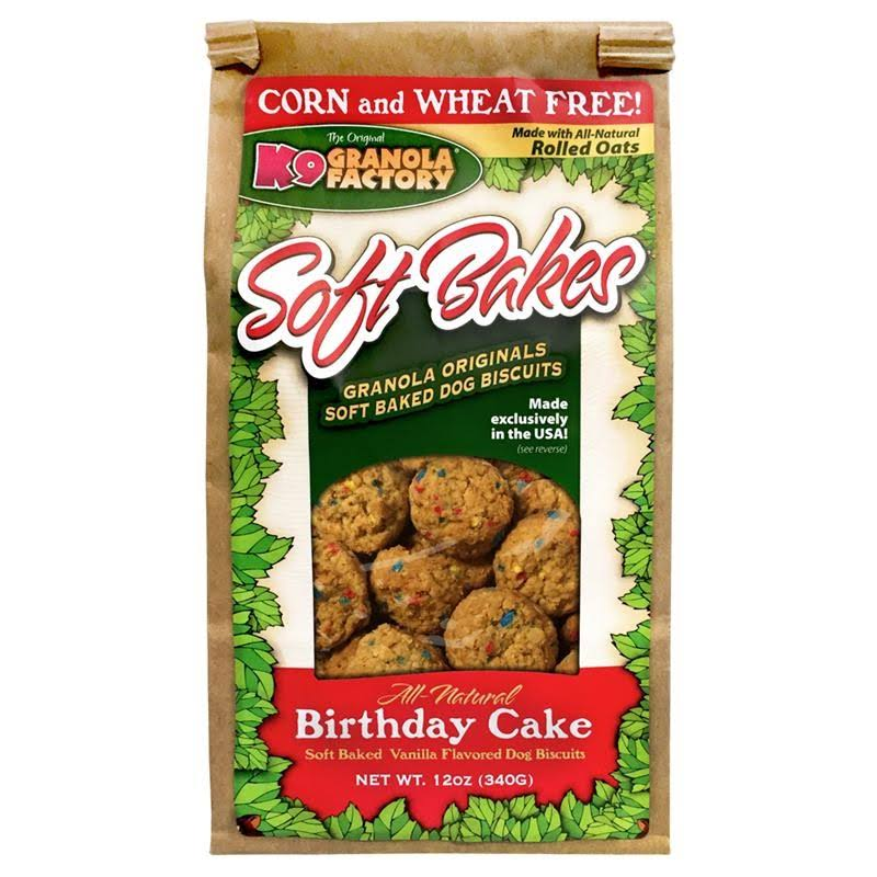 K9 Granola Factory Soft Bakes Dog Biscuits - Birthday Cake