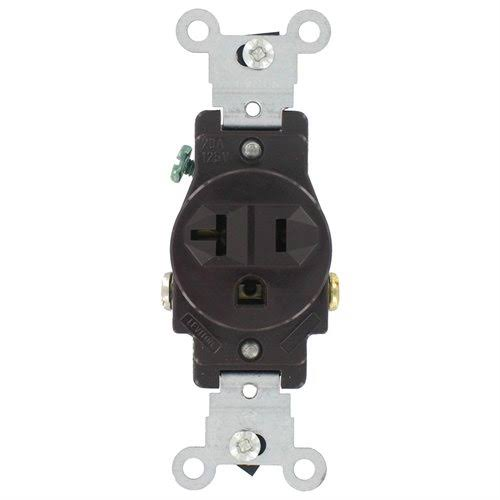 Leviton Commercial Grade Straight Blade Single Receptacle