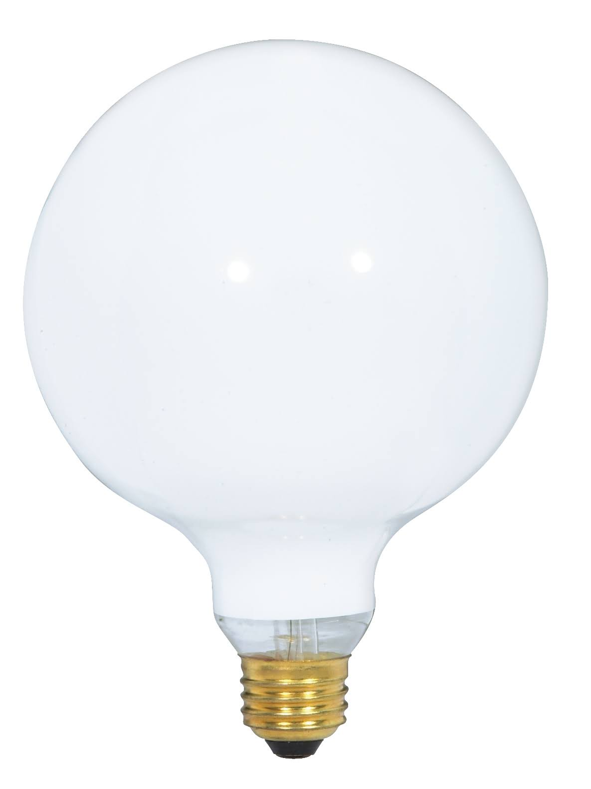 Satco Medium Base G40 Light Bulb - Gloss White, 120V, 40W