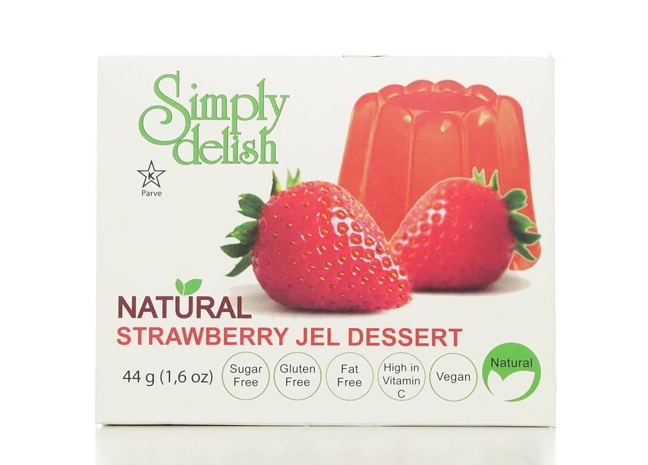 Simply Delish Natural Jelly Dessert - Strawberry, 1.6oz