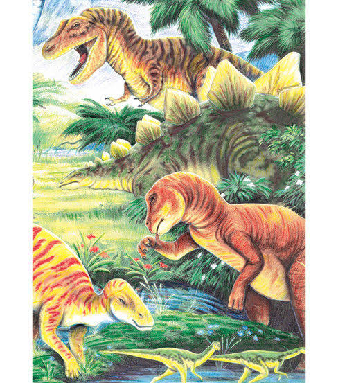 "Royal & Langnickel Mini Colour Pencil by Number Kit - Dinosaur Fun, 5"" x 7"""