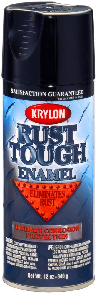 Rust Tough Rta9202 Rust Preventative Enamel Spray Paint - Black, 25 Square Feet, 12oz