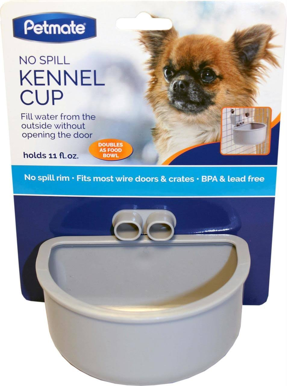 Petmate Kennel Bowl - Gray, Small
