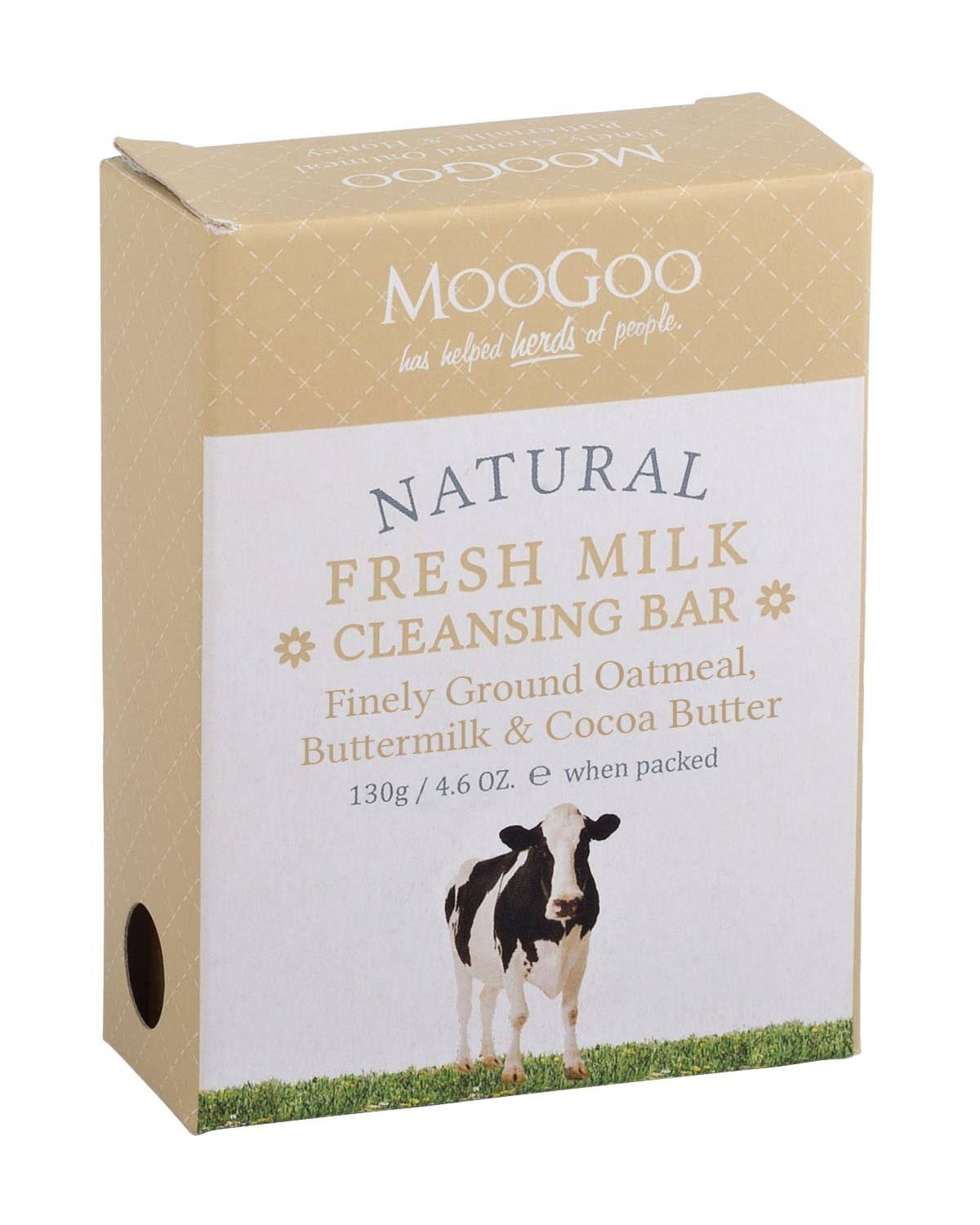 MooGoo Fresh Milk Cleansing Bar Finely Ground Oatmeal Buttermilk
