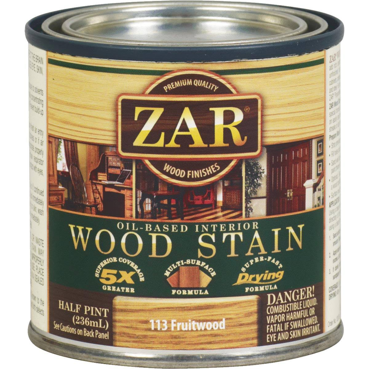 United Gilsonite Zar Oil-Based Wood Stain - 113 Fruitwood, 236ml