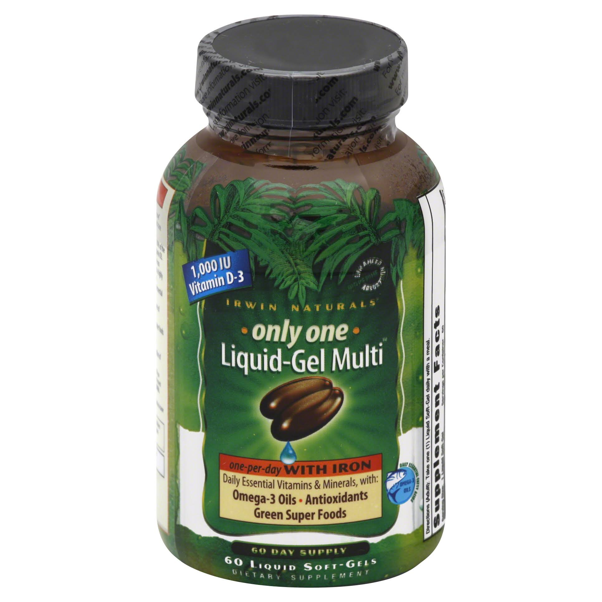 Irwin Naturals Only One Liquid Gel Multi Liquid Dietary Supplement Softgels - 60 Pack