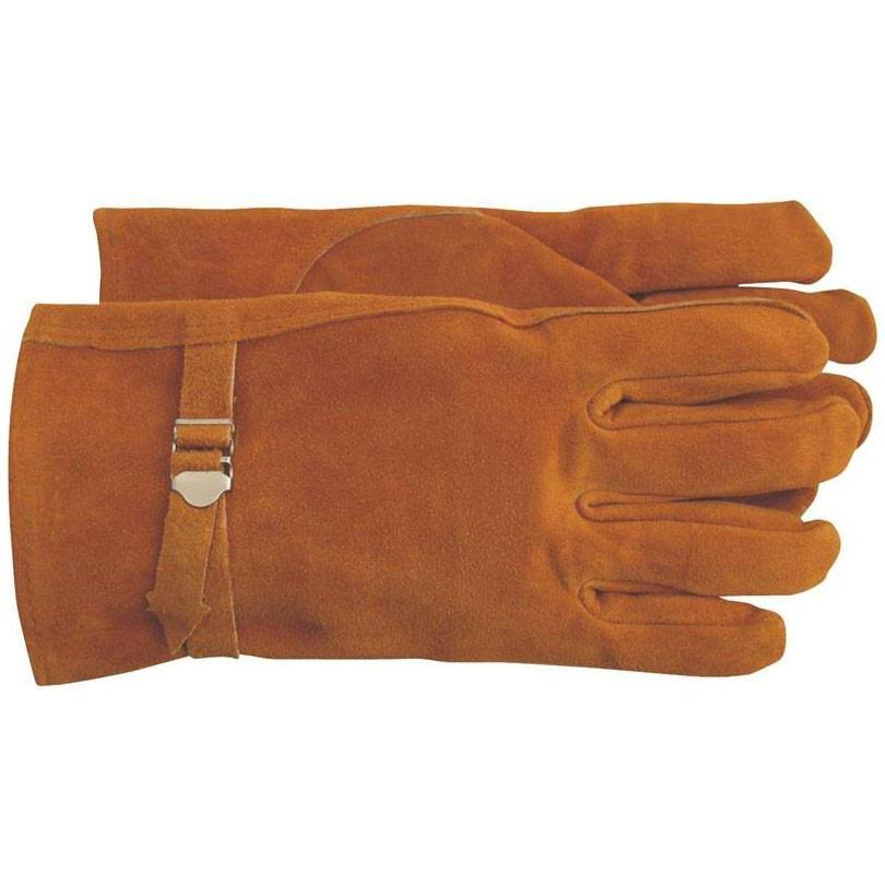 Boss 4071M Split Leather Glove - Medium, Brown