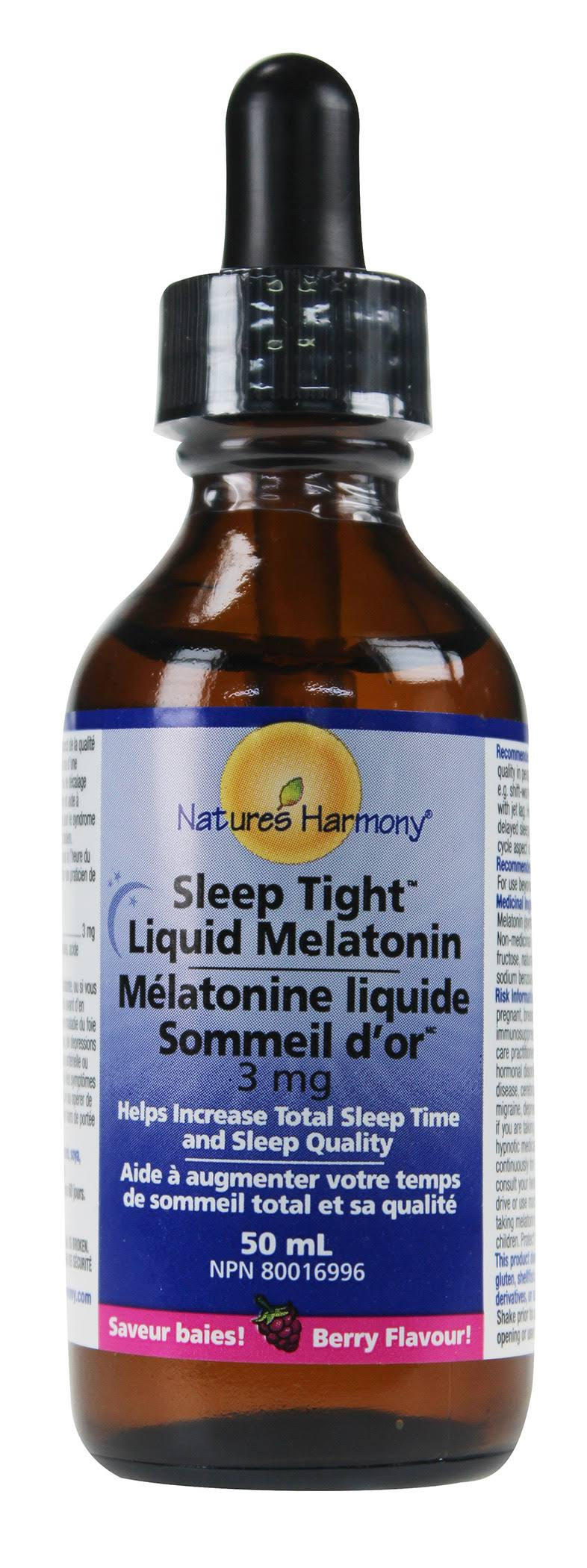 Nature's Harmony Sleep Tight Melatonin Liquid Drops