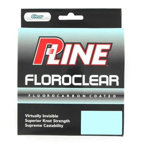 P-Line Floroclear Clear Fluorocarbon Fishing Line - 10lbs, 300yds
