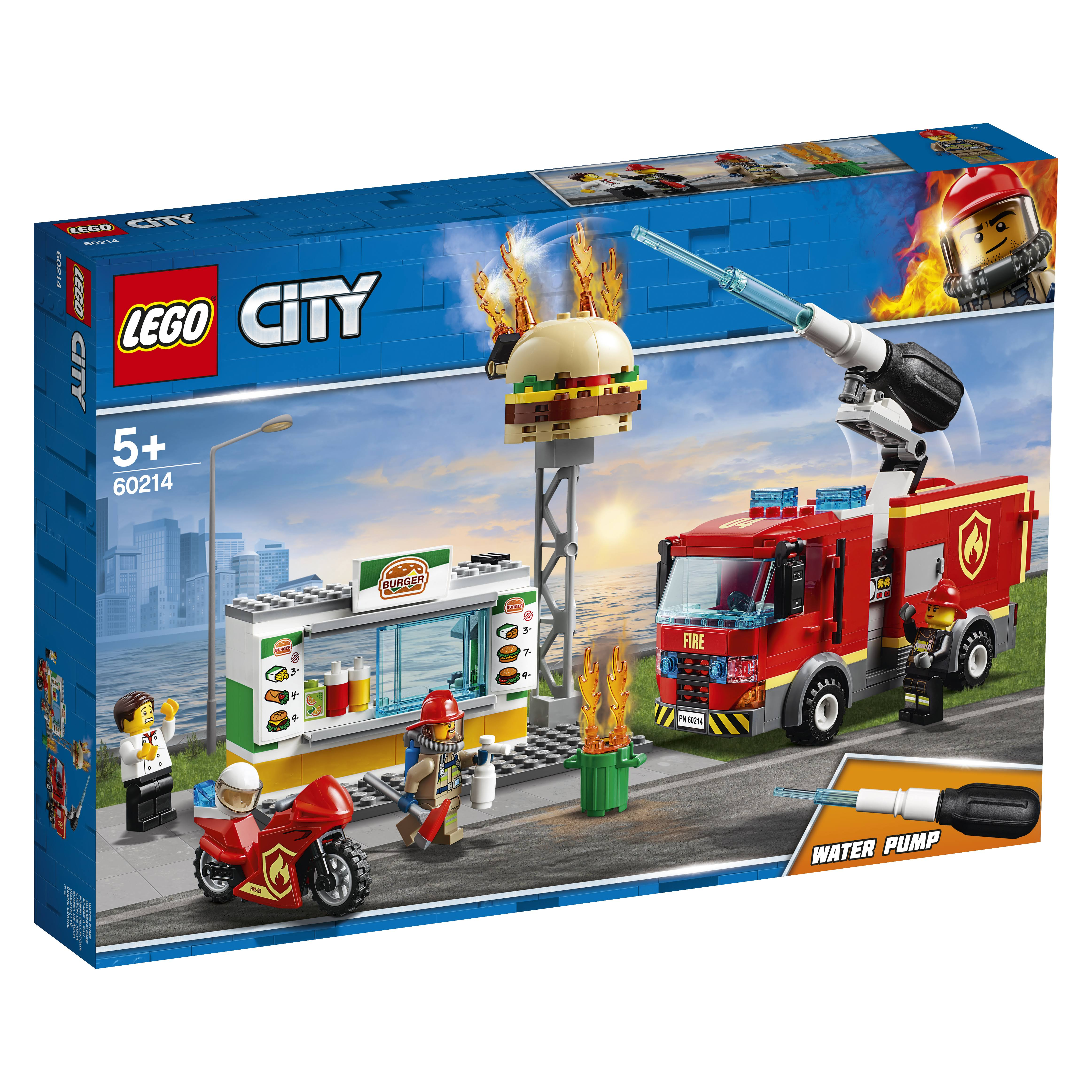 Lego City Fire at the Burger Restaurant Building Set