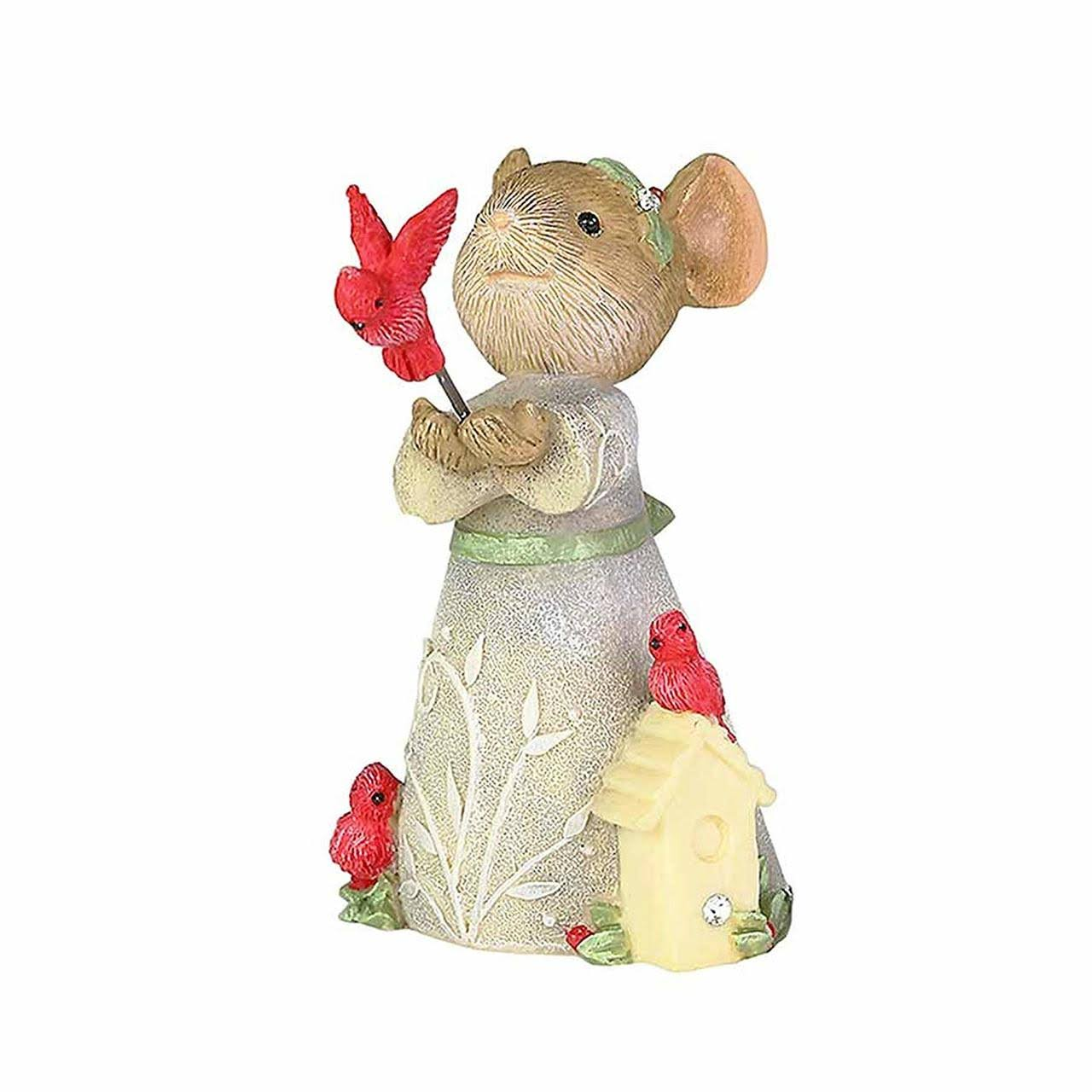 Enesco Tails with Heart Christmas Cardinal Figurine