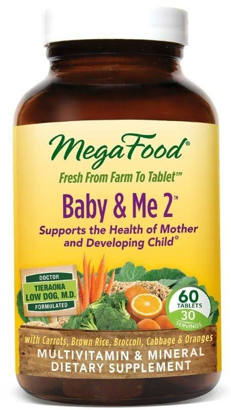 MegaFood Baby & Me 2 Pre and Post Natal Tablets - x60