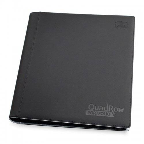 Ultimate Guard QuadRow XenoSkin Portfolio - Black, 12 Pocket