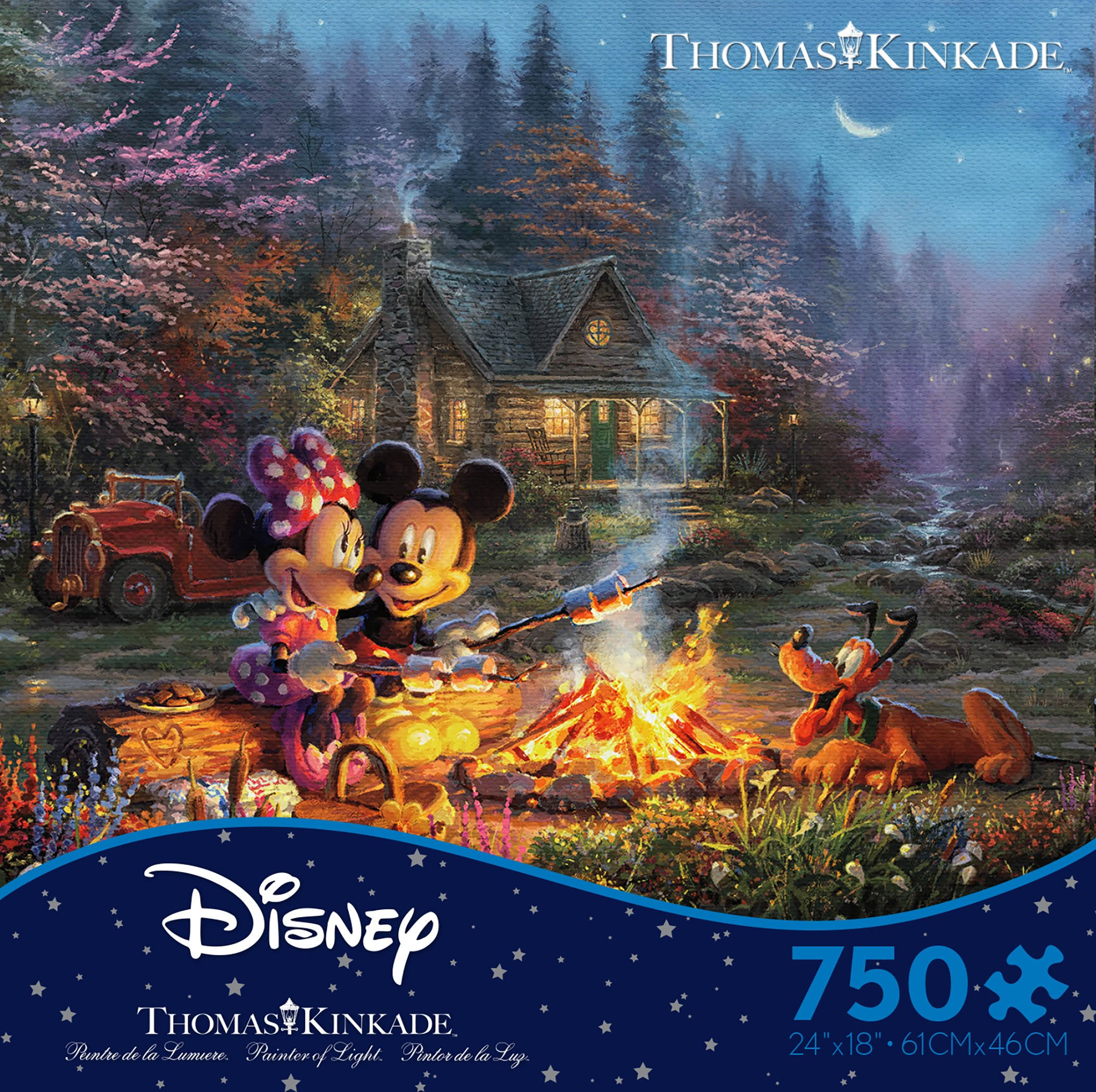 Ceaco Thomas Kinkade Mickey and Minnie Sweetheart Fire Puzzle - 750pcs